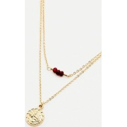Scorpio Zodiac Sign Gold Necklace - gold at Urban Outfitters