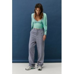 Daisy Street Grey Wide Leg Check Trousers - Grey XS at Urban Outfitters found on MODAPINS from Urban Outfitters (UK) for USD $36.05