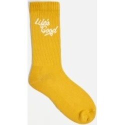 UO Life's Good Mustard Socks 1-Pack - yellow at Urban Outfitters found on Bargain Bro UK from Urban Outfitters (UK)