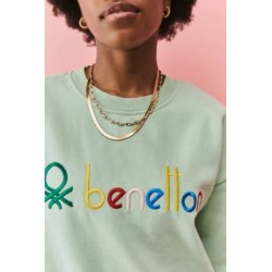 Benetton UO Exclusive Unisex Washed Green Crew Neck Sweatshirt - Green L at Urban Outfitters found on MODAPINS from Urban Outfitters (EU) for USD $95.44