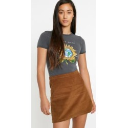 UO Sensitive Nature Baby T-Shirt - grey M at Urban Outfitters