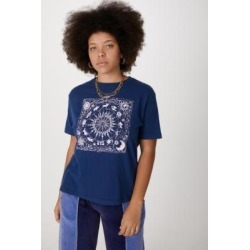 UO Navy Sun Memories Boyfriend T-Shirt - Blue XS at Urban Outfitters found on Bargain Bro UK from Urban Outfitters (EU)