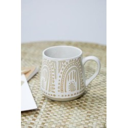 Hand-Painted Glaze Ceramic Mug - assorted at Urban Outfitters