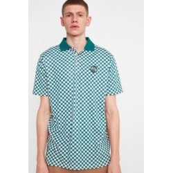 Lazy Oaf Pink Checked Jersey Polo Shirt - Mens L found on MODAPINS from Urban Outfitters