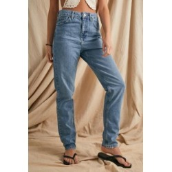 BDG Blue Vintage Wash Recycled High-Waist Mom Jeans - Blue 32W 32L at Urban Outfitters found on Bargain Bro UK from Urban Outfitters (UK)