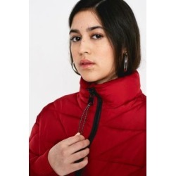 UO Red Quilted Crop Puffer Jacket found on MODAPINS from Urban Outfitters (UK) for USD $56.66