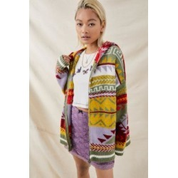 UO Patchwork Hooded Cardigan - Assorted M/L at Urban Outfitters found on Bargain Bro UK from Urban Outfitters (UK)