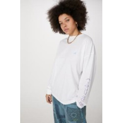 UO Long Sleeve Blessings Skate T-Shirt - White M at Urban Outfitters found on Bargain Bro UK from Urban Outfitters (EU)