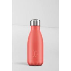 Chilly's - Wasserflasche aus Edelstahl in Korallenrot, 260 ml