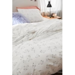 Yoga Sloth Duvet Cover Set - White DOUBLE at Urban Outfitters found on Bargain Bro UK from Urban Outfitters (UK)