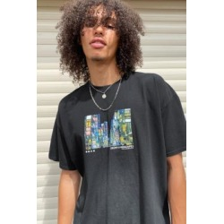 UO - T-shirt pour homme fluo paysage noir found on Bargain Bro India from Urban Outfitters (FR) for $50.70