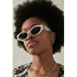 UO Angled Cat Eye Sunglasses - White ALL at Urban Outfitters found on Bargain Bro UK from Urban Outfitters (UK)