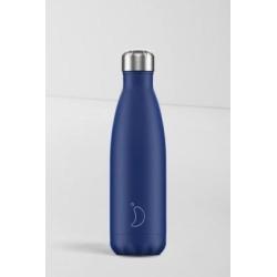 Chilly's - Wasserflasche aus Edelstahl in Marineblau, 500 ml
