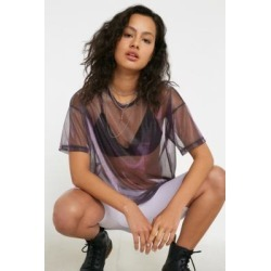 UO Oversized Liquid T-Shirt - Purple S at Urban Outfitters found on Bargain Bro UK from Urban Outfitters (UK)