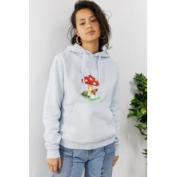 Fiorucci - Sweat à capuche bleu pâle champignon des bois found on MODAPINS from Urban Outfitters (FR) for USD $253.50