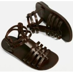Jerusalem Sandals Leah Brown Leather Gladiator Sandals found on MODAPINS from Urban Outfitters (UK) for USD $73.03
