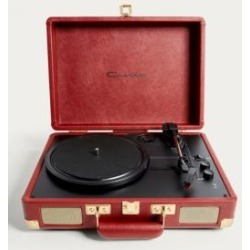 Crosley Cruiser Ruby and Gold Bluetooth Vinyl Record Player - Red ALL at Urban Outfitters found on Bargain Bro UK from Urban Outfitters (UK)