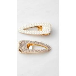 Tessa Teardrop Hair Clip Duo - white at Urban Outfitters