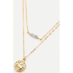Capricorn Zodiac Sign Gold Necklace - gold at Urban Outfitters