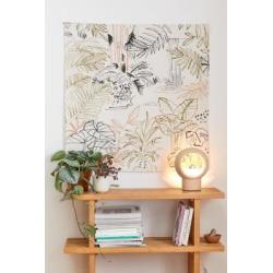 Wandteppich mit in Linien gezeichneter Landschaft