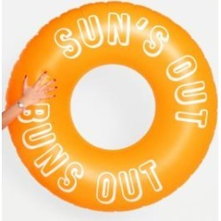 Sunnylife Luxe Sun's Out Buns Out Innertube Pool Float - orange at Urban Outfitters found on Bargain Bro UK from Urban Outfitters (UK)
