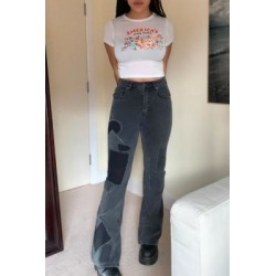 BDG Black Patchwork High-Waist Flare Jeans - Black 29W 32L at Urban Outfitters found on Bargain Bro UK from Urban Outfitters (EU)