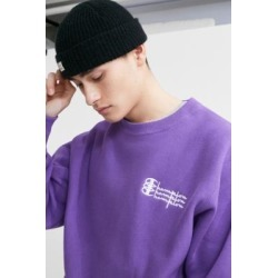 Champion UO Exclusive Triple Script Purple Crew Neck Sweatshirt found on MODAPINS from Urban Outfitters (UK) for USD $75.55