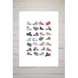 Hanna Melin Trainers Wall Art Print - Assorted 2 at Urban Outfitters found on Bargain Bro UK from Urban Outfitters (UK)