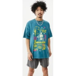 UO Teal Relax & Rewind T-Shirt - Blue M at Urban Outfitters found on Bargain Bro UK from Urban Outfitters (UK)