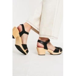 Swedish Hasbeens Mirja Black Heeled Sandals found on MODAPINS from Urban Outfitters (UK) for USD $175.01