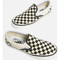 Vans Anaheim Factory Checkerboard Slip-On Trainers - black UK 5 at Urban Outfitters