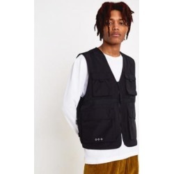 UO Black Utility Gilet - Black L at Urban Outfitters found on Bargain Bro UK from Urban Outfitters (UK)