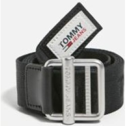 Tommy Hilfiger Black Essential Webbin Belt - Black UK 7 at Urban Outfitters found on Bargain Bro UK from Urban Outfitters (EU)