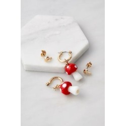 Mushroom Earrings 2-Pack - Gold ALL at Urban Outfitters found on Bargain Bro UK from Urban Outfitters (EU)