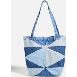 UO Diamond Patchwork Tote Bag - Blue ALL at Urban Outfitters found on Bargain Bro UK from Urban Outfitters (UK)