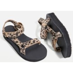 Teva Leopard Print Midform Sandals - Black UK 4 at Urban Outfitters found on Bargain Bro UK from Urban Outfitters (EU)