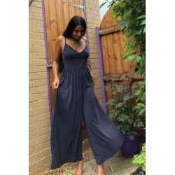 UO Kesang Curpo Jumpsuit - Black S at Urban Outfitters found on Bargain Bro UK from Urban Outfitters (UK)