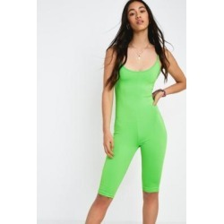 UO Neon Green Unitard - green L at Urban Outfitters