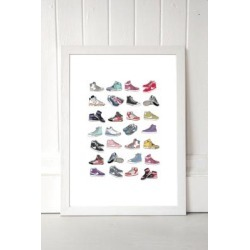 Hanna Melin Trainers Wall Art Print - White UK 3 at Urban Outfitters found on Bargain Bro UK from Urban Outfitters (UK)