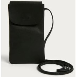 UO Leather Slim Pouch Crossbody - Black ALL at Urban Outfitters found on Bargain Bro UK from Urban Outfitters (UK)