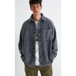 BDG Washed Black Jumbo Corduroy Shirt - Black S at Urban Outfitters found on Bargain Bro UK from Urban Outfitters (UK)
