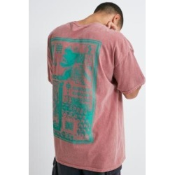 UO Poster Print T-Shirt - red L at Urban Outfitters