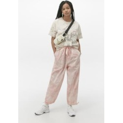 UO Tie-Dye Nylon Joggers - Pink S at Urban Outfitters found on Bargain Bro UK from Urban Outfitters (UK)