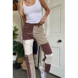 Jaded London Brown Patchwork Denim Boyfriend Jeans - Brown 24 at Urban Outfitters found on MODAPINS from Urban Outfitters (UK) for USD $90.27