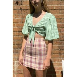 Daisy Street Check Mini Skirt - Assorted L at Urban Outfitters found on MODAPINS from Urban Outfitters (UK) for USD $15.26