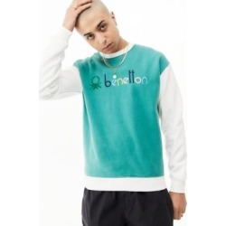 Benetton Solid Colour-Block Crew Neck Sweatshirt - Assorted L at Urban Outfitters found on MODAPINS from Urban Outfitters (EU) for USD $95.44
