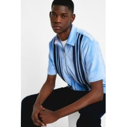 Lazy Oaf Panelled Velour Full-Zip Shirt - Mens L found on MODAPINS from Urban