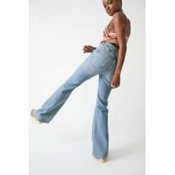 BDG Blue Vintage Wash High-Waist Flare Jeans - Blue 32W 32L at Urban Outfitters found on Bargain Bro UK from Urban Outfitters (UK)
