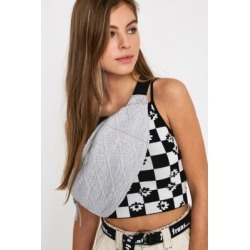 House Of Holland Reflective Embroidered Bum Bag - silver at Urban Outfitters