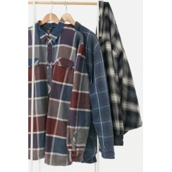 Urban Renewal Vintage Blue Plaid Men's Padded Flannel Jacket - Blue M/L at Urban Outfitters found on Bargain Bro UK from Urban Outfitters (UK)